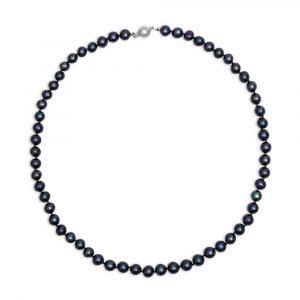 ожерелье черный жемчуг 7-7,5